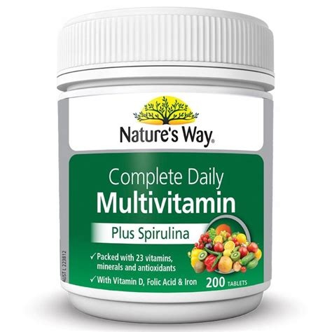 Luxor Apirulina Isi 200 Tablet nature s way complete daily multivitamin 200 tablets vitamins minerals health ebay