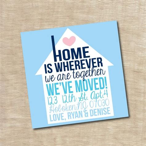 housewarming gift card template housewarming invitation new home we moved announcement