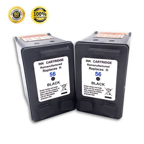 Cartridge Compatible Canon 57 Cl57 Color Indikator Volume Tinta 2 pack black ink cartridge for hp 56 officejet 5508 5605 5608 6105 6110 6150 ebay