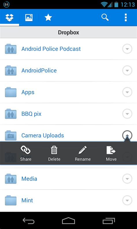 dropbox android dropbox for android updated to v2 2 2 finally brings the ability to move files and folders
