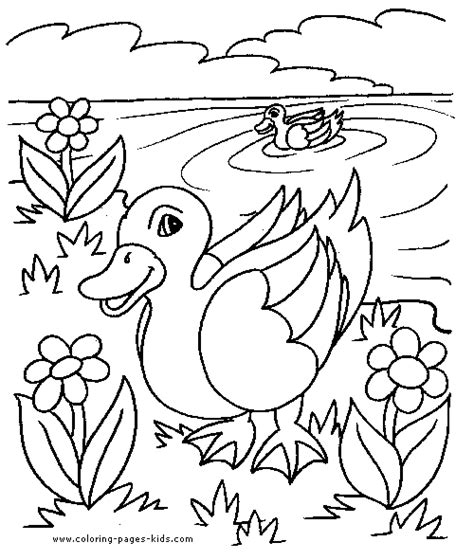 coloring pages ducks in a pond ducks in a pond color page free printable coloring sheets