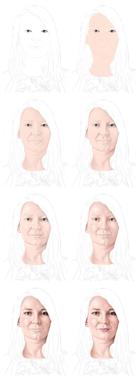 how to color skin color pencil portraits how to shade the skin