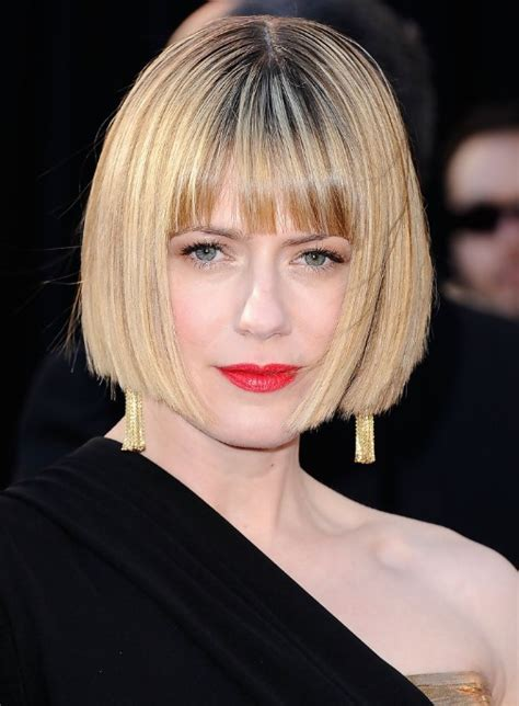 hairstyles blunt cut bob short sleek bob haircut with blunt bangs classic bob