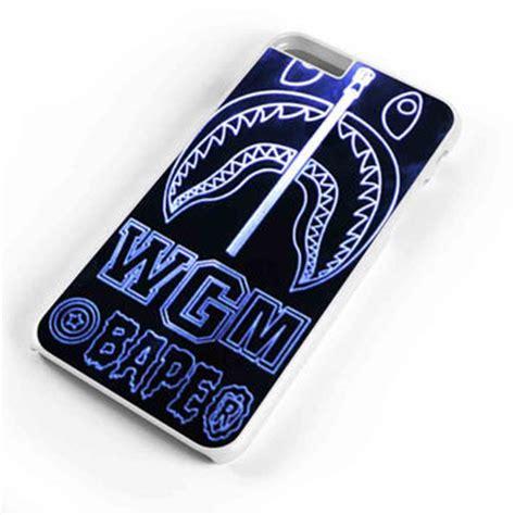 Iphone 6 6s Bape Shark Blue Pattern Black Hardcase best bape iphone 6 products on wanelo