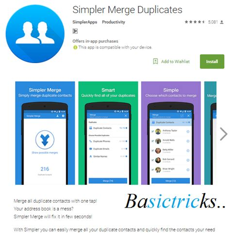 android merge contacts how to delete or remove duplicate contacts on android smartphone basictricks