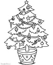 printable christmas tree coloring pages 005