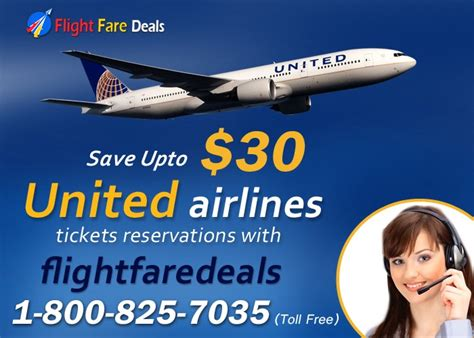 united airlines tickets reservations with flight fare deals
