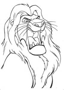 roaring lion coloring page musafa is roaring coloring page supercoloring com