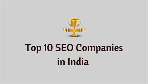 Top Seo Companies by Top 10 Best Seo Companies In India Exclusive List 2018