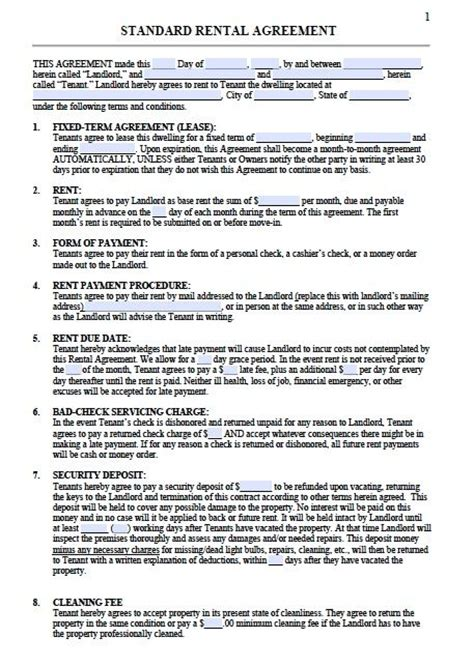 exle printable lease agreement 899 best free printable for real estate forms images on