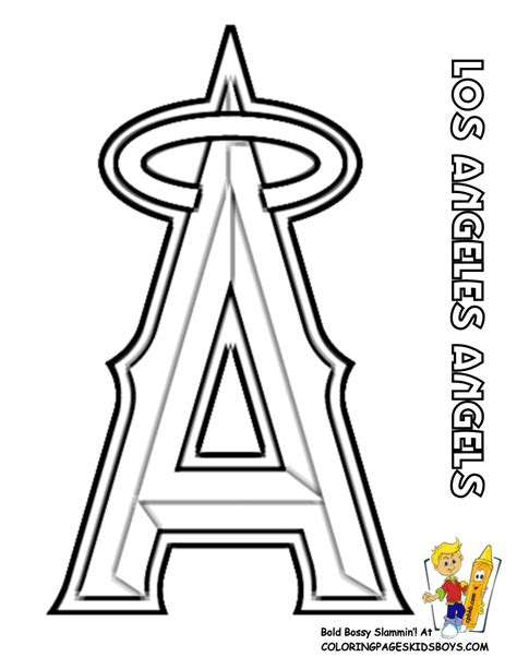 Baseball And Softball Coloring Pages Mlb Logo Coloring Pages