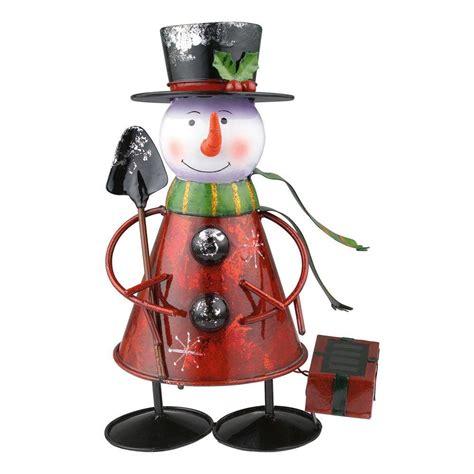 solar snowman lights eglo solar led multi color outdoor snowman light 47742