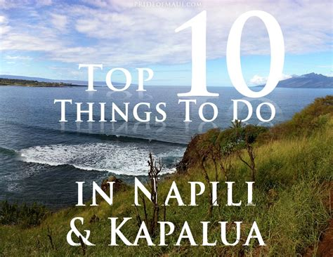 things to do on maui napili kapalua things to do north west maui activities