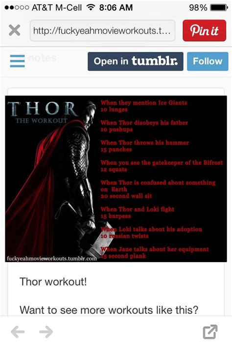 thor movie workout 115 best images about workout routines tv n movie on