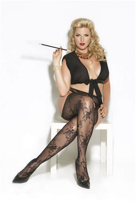 Lace Suspender Pantyhose ? Queen Size from Belladoro   college