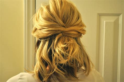 how to do half up half down hairstyles wikihow half up to full updo the small things blog
