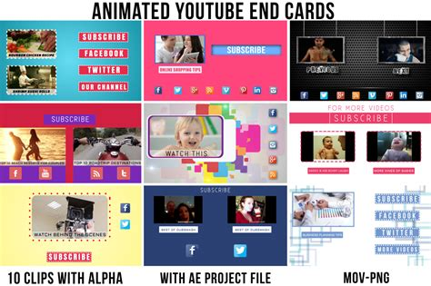 Simple End Card Template by Animated End Cards Vol 1 Presentation Templates