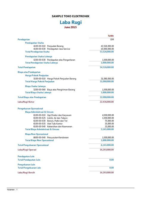 membuat laporan keuangan toko kelontong contoh laporan keuangan untuk toko elektronik