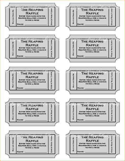 print raffle tickets template 6 free printable raffle tickets template teknoswitch