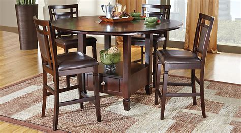 rooms to go counter height dining sets landon chocolate 5 pc counter height dining set dining room sets wood