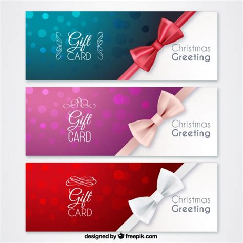 Gift Cards Christmas Free - christmas gift cards vector premium download