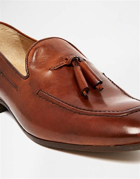 brown tassel loafers womens h by hudson h by hudson tassel loafers brown in