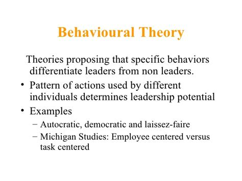 normative pattern definition theories of leadership