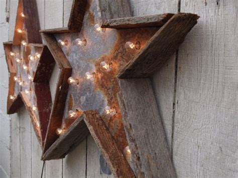 rustic stars wall art my home pinterest 1000 images about barn wood stars w old tin n lights on