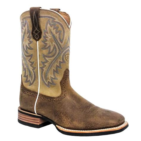 ariat quickdraw boots mens ariat mens quickdraw western boots bark beige