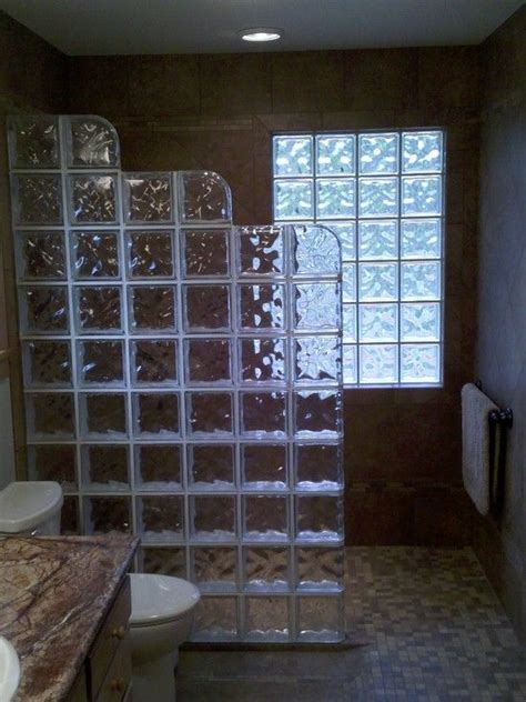 glass block bathroom ideas glass block shower wall design pictures remodel decor