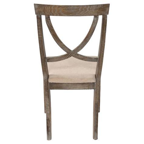 mylene french country beige upholstered seat whitewashed