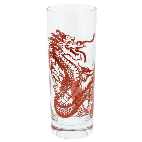 tiki barware chinese dragon highball tiki glass red restaurant bar glassware 13 oz ebay