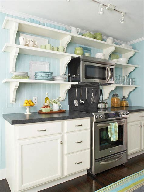 shelves in kitchen ideas open kitchen shelving tips and inspiration