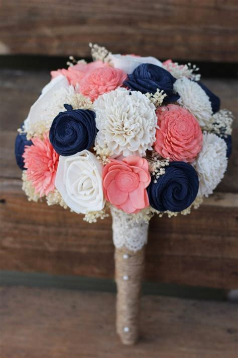 wedding bouquet keepsake ideas navy coral bouquet wedding wedding flowers wedding