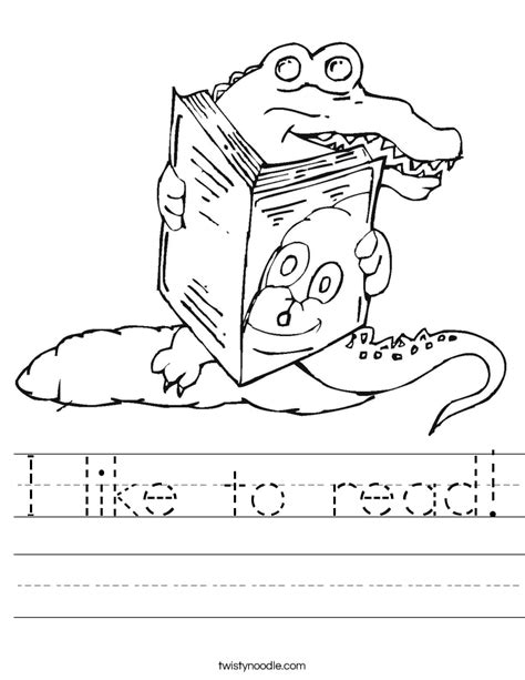 coloring pages about reading i like to read worksheet twisty noodle