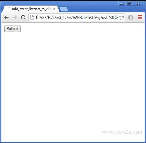 javascript tutorial event listener add event listener to click event for form in javascript