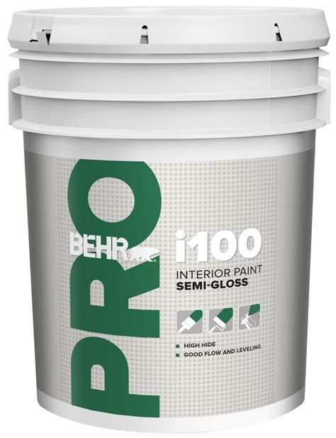 home depot paint quantity behr pro behr pro i100 series interior paint semi gloss