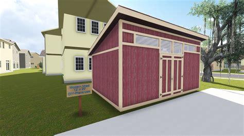 modern storage shed plan