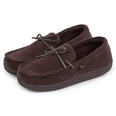 mens isotoner slippers isotoner mens pillowstep cord moccasin slippers ebay
