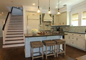 Traditional Kitchen Islands watersound beach cottage interior design by andrea