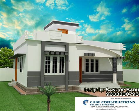 home design kerala with cost 2 bedroom home plans