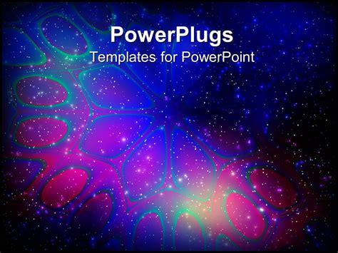 powerpoint template abstract flower  light stars
