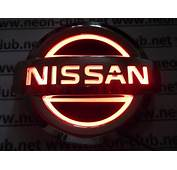 5D Nissan Red  Neon Logo