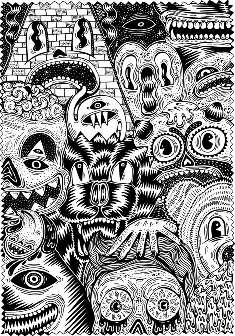 printable adult coloring pages monsters free coloring page coloring for adult 7 warning scary