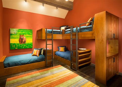 bedroom ideas with bunk beds triple bunk bed kids rustic with multiple bunk beds ladder