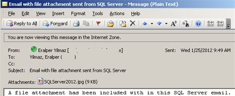 format email sql sql server email using sp send dbmail with file attachment