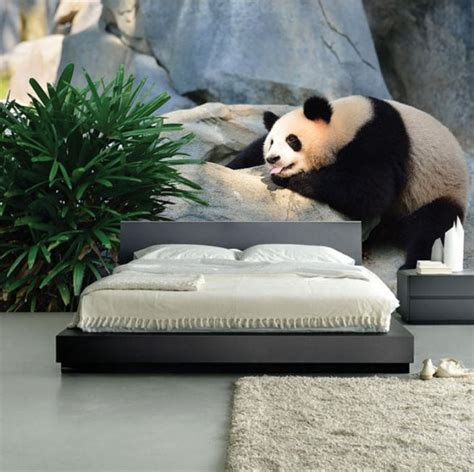 panda wall mural lighting adds to the magic of the panda wall mural decoist
