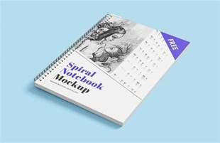sketchbook mockup psd free spiral sketchbook notebook mockup psd mockups