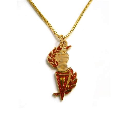 torch jewelry delta sigma theta torch necklace gold dst sorority