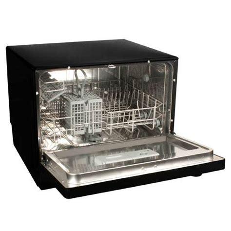 koldfront 6 place setting countertop dishwasher black